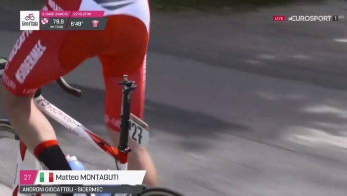 bicicleta sin sillin en el giro de italia