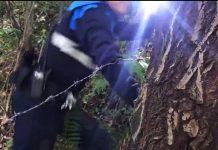 trampa-ciclista-mieres-asturias-alambre-espino-seprona-bicicleta-montaña