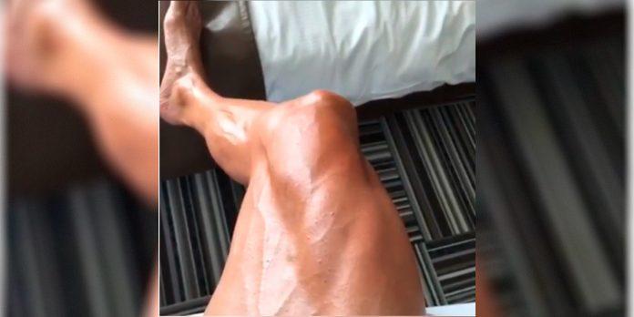 piernas de ciclista profesional Joaquin Purito Rodriguez