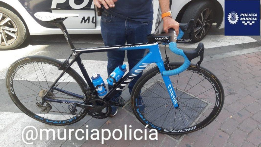 recuperan-bicicleta-robada-movistar-team-murcia-campeonato-españa-ciclismo-ruta