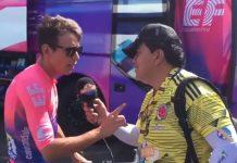 Rigoberto Uran discute con con un periodista