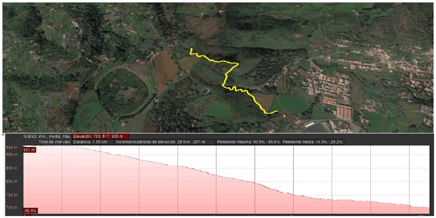cartel-campeonato-de-españa-btt-mtb-mountain-bike-descenso-dh-downhill-2019-teror-gran-canaria-perfil-recorrido