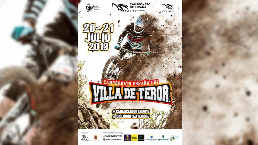 cartel campeonato de españa btt mtb mountain bike descenso dh downhill 2019 teror gran canaria