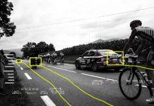 un radar multa a los coches del tour de Francia