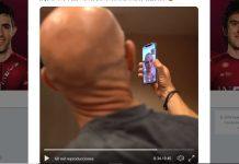 el team ineos haciendo videollamada a Chris Froome