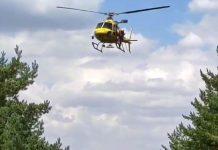 Rescatada en helicóptero una ciclista que se cayó con su bici en el Bike Park de La Pinilla