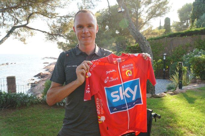 chris froome ya tiene su maillot de lider de la vuelta a españa 2011