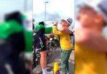 Mark Renshaw y su familia en el Tour de Gran Bretaña