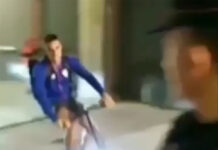 Vídeo-Un-futbolista-abandona-el-estadio-en-bici-entre-coches-de-alta-cilindrada-dani-garcia-athletic-bilbao-bicicleta