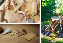 bixie bicicleta sin pedales para niños de madera