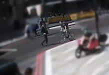 un ciclista pega un cabezazo a un peatón
