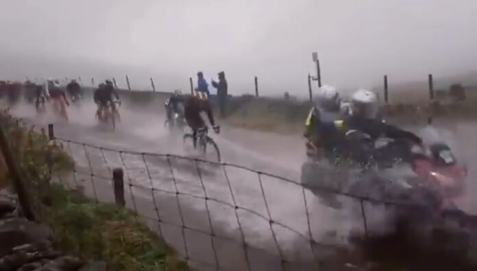 mundial de ciclismo pasado por agua