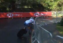 a punto de caerse en el mundial de yorkshire de contrarreloj junior