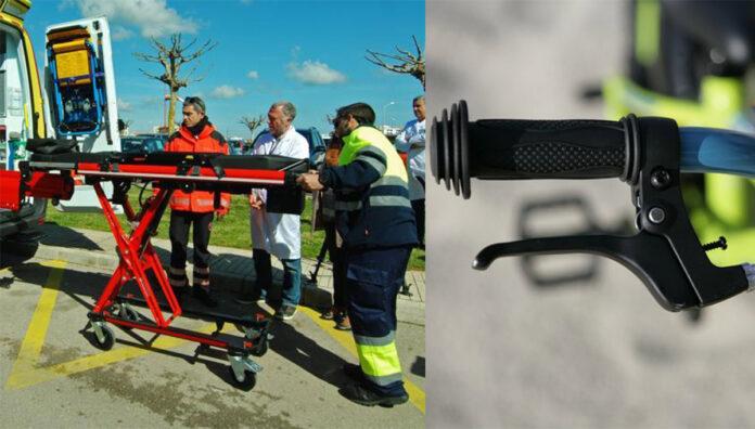 Una mujer se clava el freno de la bicicleta del alquiler al caerse en Bilbao