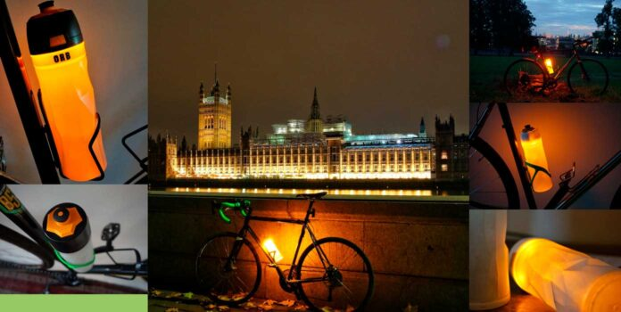bote de agua para bicicleta luminoso