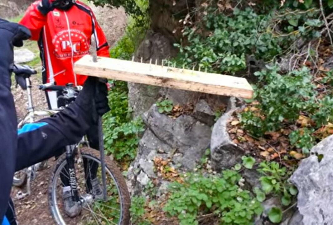 Trampas-para-ciclistas-supuestamente-colocadas-por-cazadores-en-Valladolid-simancas