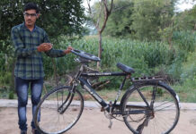 Una bicicleta de casi 4 metros de largo un tanto especial