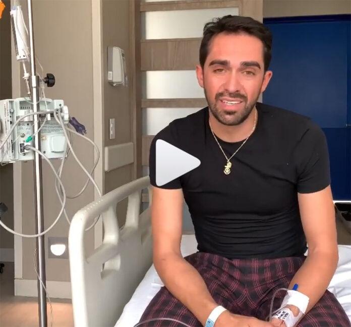 Vídeo: Alberto Contador hospitalizado en Colombia
