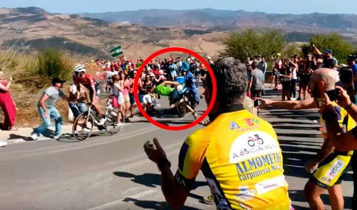 aficionado al ciclismo multado por la guardia civil
