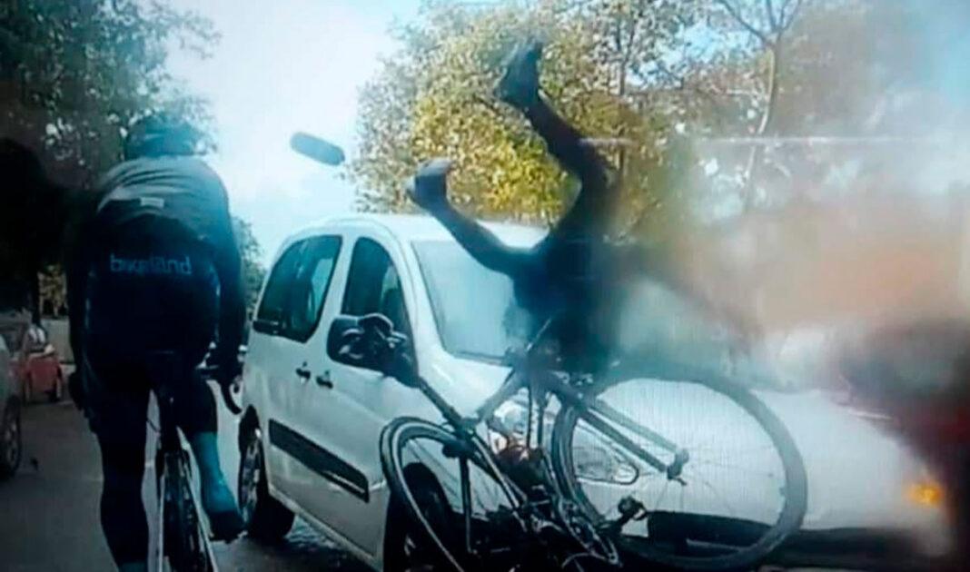 ciclista atropellado por una furgoneta