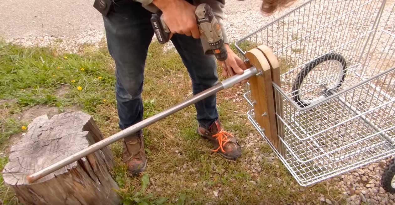 construir bicicleta de carga con carrito de la compra