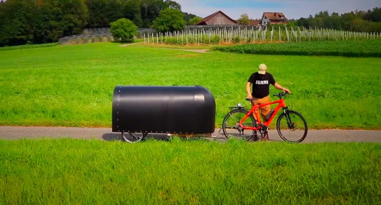 construir una bike camper
