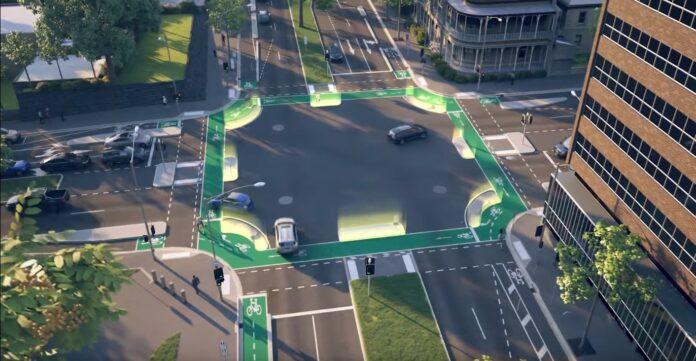 proteger a los ciclistas en las intersecciones