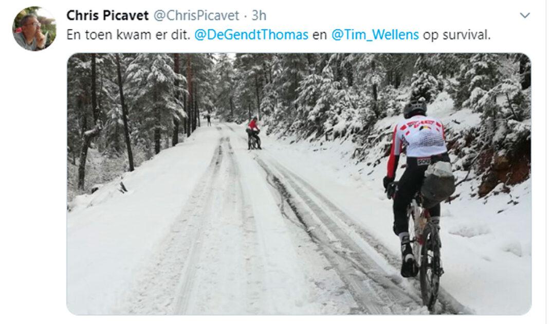 Thomas De Gendt y Tim Wellens en gravel por el teruel