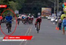 ciclista derribado en la vuelta ciclista a costa rica 2019