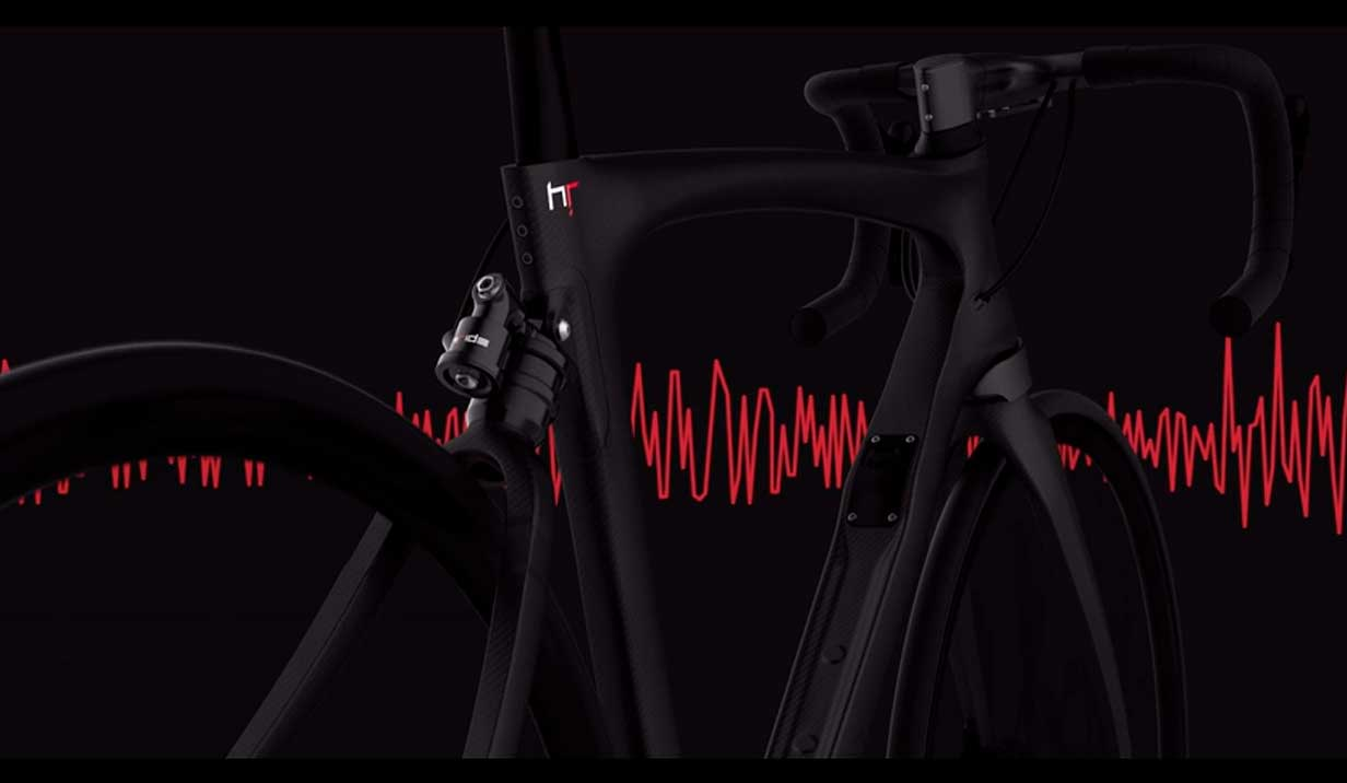 sistema ESAS de doble suspensión para bicicletas de carretera