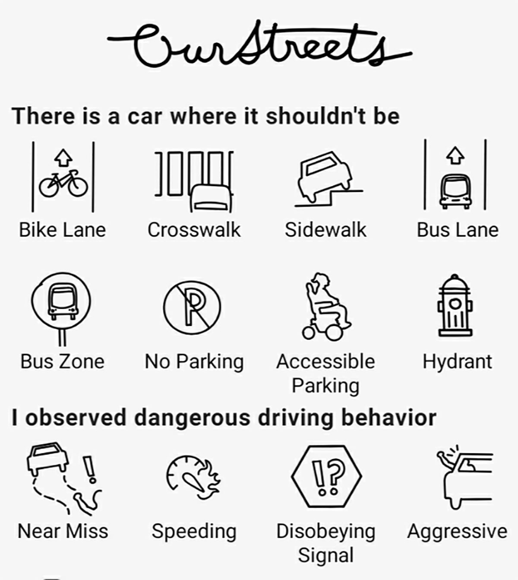 OurStreets, una App para denunciar a conductores poco cívicos en la carretera