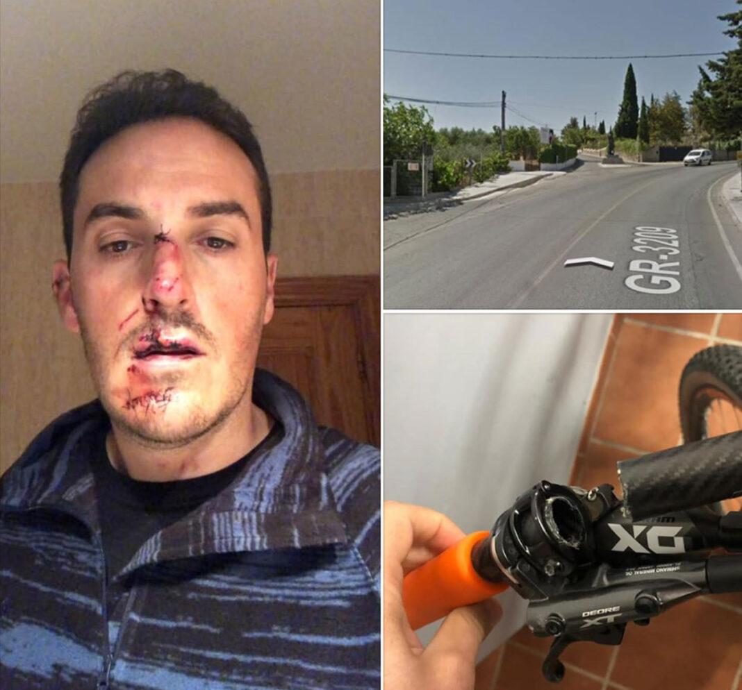 Se busca al coche blanco que se dio a la fuga tras atropellar a un ciclista en Granada