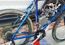 Vídeo: Detenido por ir en una bicicleta modificada con motor y sin casco