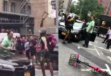 Vídeo: Pelea entre un ciclista urbano y un conductor de UBER
