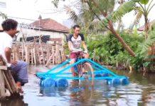 bicicleta acuática casera