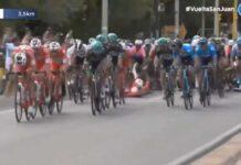 caída en la Vuelta a San Juan