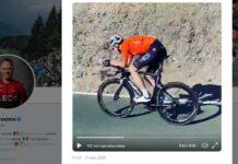 Chris Froome vuelve a subirse a su bicicleta de contrarreloj
