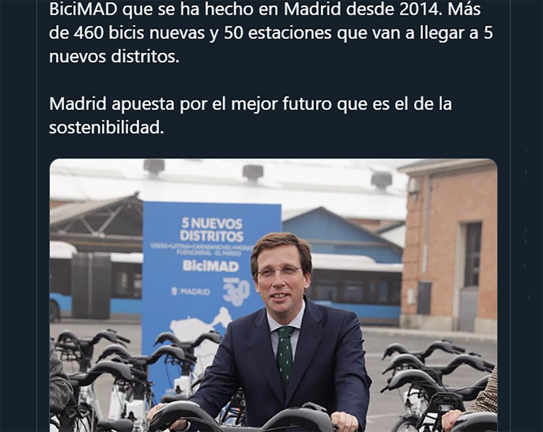 Almeida, el ciclista urbano con corbata y la cara muy dura