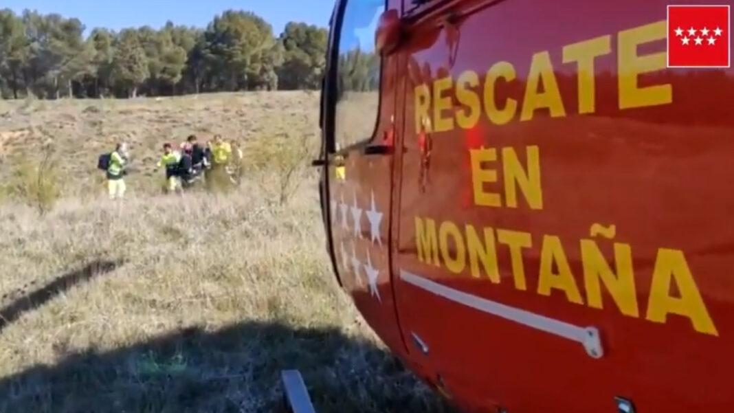 Se fractura la rodilla y tiene que ser evacuado en helicóptero en Alcalá de Henares, Madrid