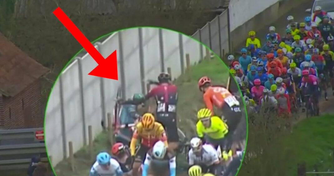 Arroja la bicicleta a un compañero y es descalificado. Gianny Moscon la vuelve a liar