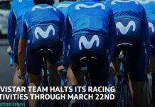 El equipo Movistar Team también confirma que deja de competir por el Coronavirus hasta final de Marzo