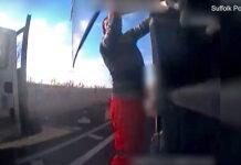 Vídeo: Camionero atropella mortalmente a un ciclista y esconde su teléfono móvil que iba utilizando al volante