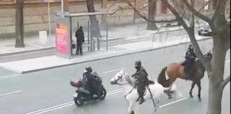Vídeo: La Policía Nacional persigue a caballo a un ciclista urbano en Madrid