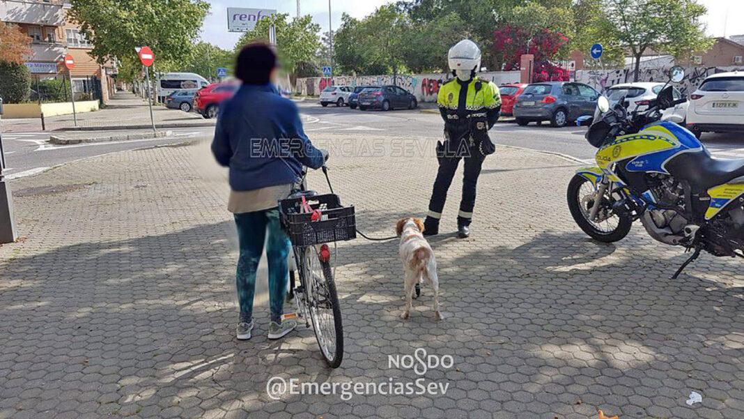 denunciada-por-pasear-al-perro-en-bicicleta-durante-estado-de-alarma-españa-mascota-protesis-pata