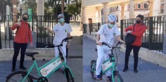 Entregan-la-primera-bicicleta-gratis-de-Todobici-a-una-enfermera-del-Hospital-General-de-Valencia