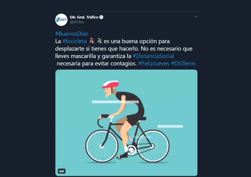 La DGT pide utilizar la bicicleta como medio de transporte para evitar contagios - #Bicicletascontraelvirus