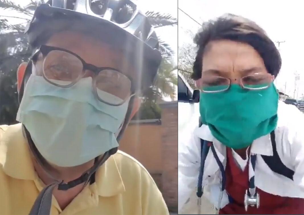 Los médicos se ven obligados a ir al trabajo en bicicleta en Venezuela