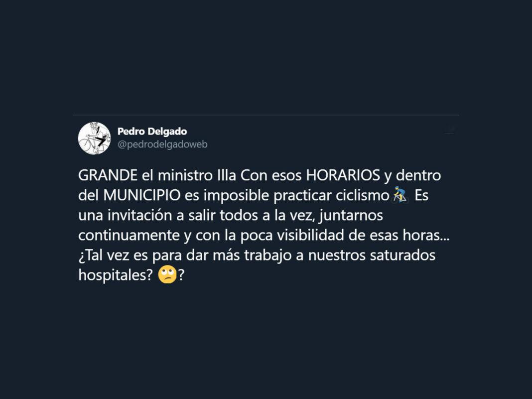 Pedro Delgado sobre Illa: