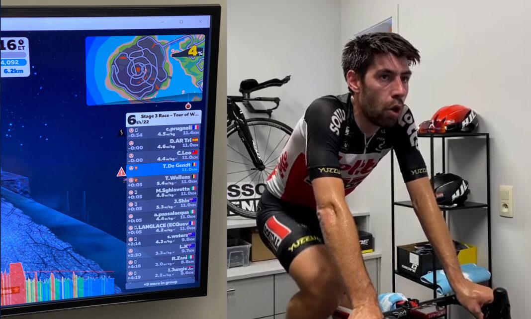 Thomas De Gendt expulsado de Zwift por exceso de Vatios sobre el rodillo de entrenamiento - iberobike