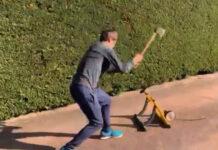Vídeo-El-ciclista-Mikel-Landa-revienta-su-rodillo-de-entranamiento-con-un-hacha